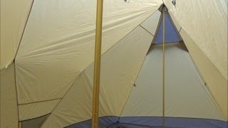 getlinkyoutube.com-UltraLight Backpacking Hot Tent and Hammock Hot Shelter - First Pitch
