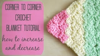 getlinkyoutube.com-CROCHET: How to crochet the corner to corner 'C2C' blanket | Bella Coco