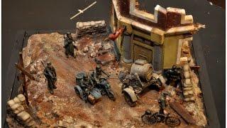"""getlinkyoutube.com-""""Wehrmacht's Final"""" Diorama Build in 1/35"""