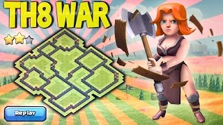 getlinkyoutube.com-🔴 LAYOUT GUERRA CV8 [ANTI 3 STAR] + DEFENSE REPLAYS TH8 WAR BASE |ANTI DRAGON HOG GOWIPE| COC