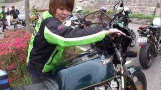 getlinkyoutube.com-女性ライダーKZ1300に挑戦! Woman challenger #2
