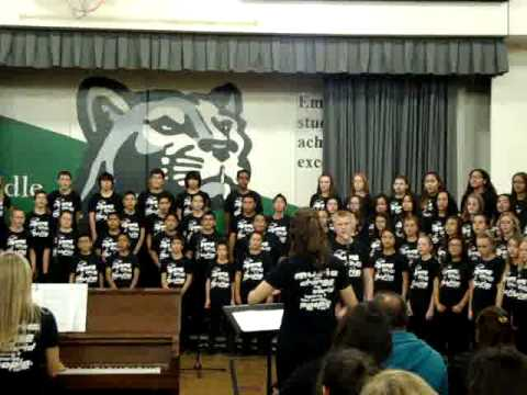 Jurupa Middle School Choir Little Drummer Boy Peace on Earth 12 11 13