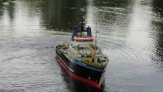 getlinkyoutube.com-BIG Smit Rotterdam/London (300 cm),Schiffsmodelle, vaargroep de golf