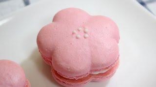 getlinkyoutube.com-벚꽃 마카롱 / cherry blossom macaron / flower macaron / 베이킹 / baking : 하레