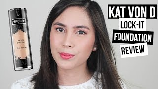 getlinkyoutube.com-Kat Von D Lock-It Foundation First Impression & Review!  (Dry/Combination Skin) | Tiara S. Dusqie