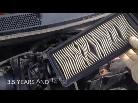 How to change/replace air filter on your Honda Fit - замена воздушного фильтра