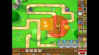 getlinkyoutube.com-Bloons Tower Defense 5 - Track 1 - Easy Mode - Rounds 1-100 no lives lost
