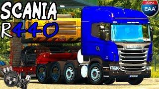 getlinkyoutube.com-Euro Truck Simulator 2 - Scania R440 8x2 - Mapa EAA - Logitech G27