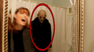 getlinkyoutube.com-Woman attacked by ghost in bathroom! Horror video of apparition caught on tape in investigation vlog
