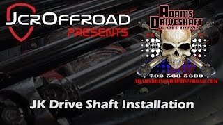 getlinkyoutube.com-Adams Jeep JK Front and Rear Drive Shafts Installation - JcrOffroad
