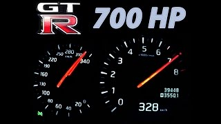 getlinkyoutube.com-Nissan GTR Acceleration 0-300 Onboard Autobahn Landstrasse Sound 700 HP 1000 NM