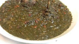 مطبخ الاكلات العراقيه - مرق السبيناغ ( سبزي) ---رمضان 15