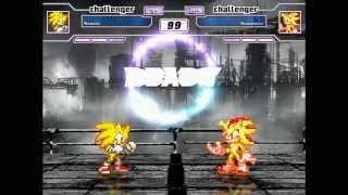 getlinkyoutube.com-Mugen: Super Sonic Vs. Super Shadow