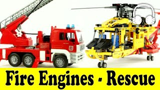 getlinkyoutube.com-Fire Engines - Rescue - Cars | Family Sing Along - Muffin Songs - пожарная машина