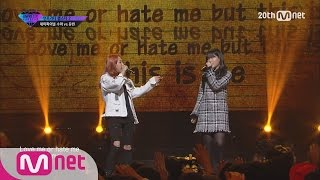 getlinkyoutube.com-[UNPRETTY RAPSTAR2] 'Who am I' – Soo Ah(Feat.AKMU's Suhyun) @Semi Final EP.10 20151113