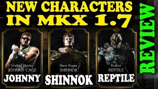 getlinkyoutube.com-MKX Mobile 1.7 Characters: SHINNOK, JOHNNY AND REPTILE! Quick review!