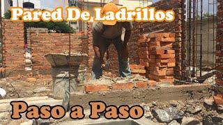 como hacer una pared de ladrillos