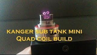 getlinkyoutube.com-Quad coil in Kanger Sub Tank mini rba