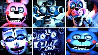 getlinkyoutube.com-Five Nights at Freddy's: Sister Location All NEW Jumpscares (Custom Night)
