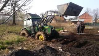 getlinkyoutube.com-John Deere/Zetor 2400 akcja bagno/action swamp