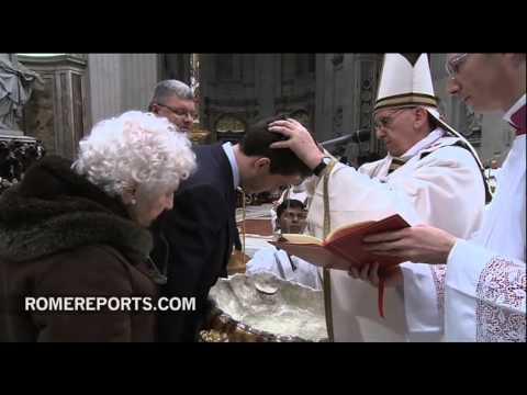 Pope baptized four adults for Easter Vigil in shortened ceremony