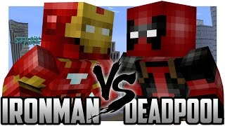 getlinkyoutube.com-Minecraft: Iron Man vs Deadpool! A Legend is Born on Youtube!