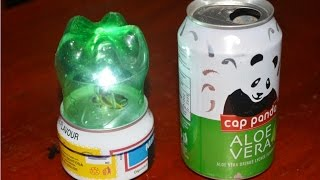 getlinkyoutube.com-cara membuat lampu tidur - bahan kaleng dan botol minuman bekas