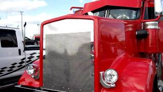 Kenworth W900l large car roll off jake braking