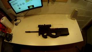 getlinkyoutube.com-P90 Conversion Ruger 10/22 How to make a Sub Machine Gun