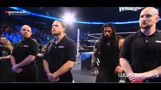getlinkyoutube.com-Roman Reings vs Seth Rollins and Kane,Randy Orton attack Seth Rollins, Smackdown 03-19-2015