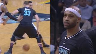 Vince Carter 4 Blocks at Age 40! Gasol Through Legs Fade! Spurs vs Grizzlies