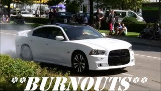 "getlinkyoutube.com-""BURNOUTS"" Accelerations Sounds!! Revs!! Lot of Smoke!! MUSCLE-CAR Party & Crowd goes Crazy!!"