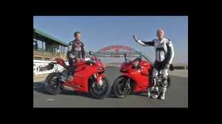 getlinkyoutube.com-Ducati 1199 Panigale vs 899 Panigale Shootout