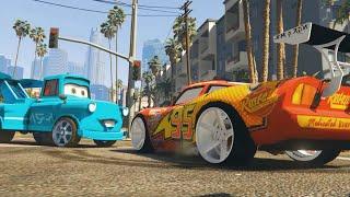 getlinkyoutube.com-Tokyo Mater + Lightning McQueen (Grand Theft Auto V Mods Gameplay)