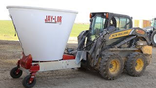 Jaylor Skid Steer Mini Mixer A50 TMR Mixer Demo