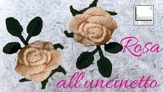 getlinkyoutube.com-Rosa all'uncinetto a dieci petali - tutorial passo a passo