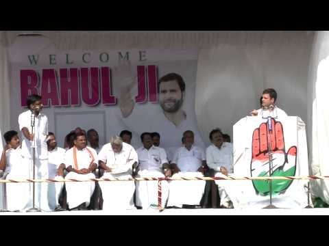 Rahul Gandhi Addressing a Public Rally at Kattappana, Kerala on April 05, 2014