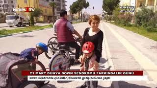 Down Sendromlu çocuklar, bisikletle gezip besleme yaptı