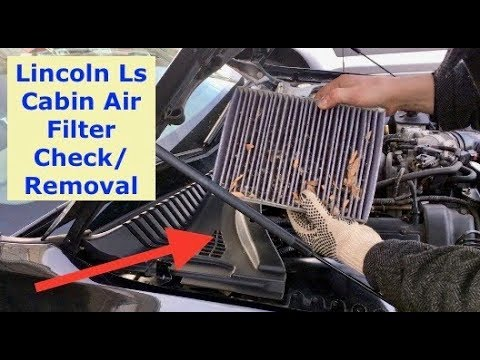 Lincoln LS cabin air filter location and removal