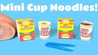 DIY Realistic Miniature Cup Noodles - Ramen