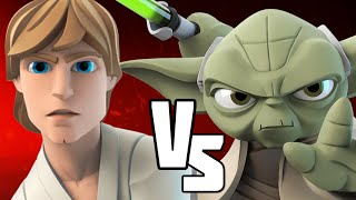 getlinkyoutube.com-LUKE SKYWALKER VS YODA - Disney Infinity BATTLES!