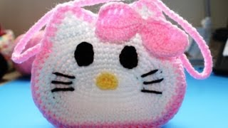 "getlinkyoutube.com-Crochet ""Hello Kitty"" Inspired little girls purse - Video 3 (Final)"