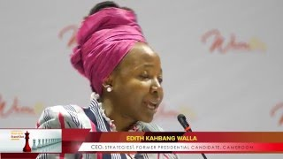 Edith Kahbang Walla speaking at WIMBIZ 14th Annual Conference