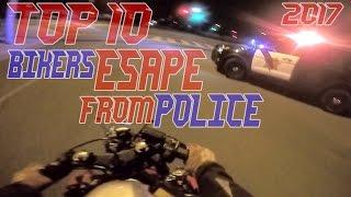 getlinkyoutube.com-TOP 10 Cops VS Bikers ESCAPE Police Chase Motorcycles GETAWAY Running From Cops On Motorcycle 2017