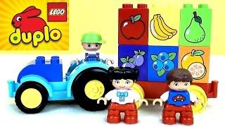 getlinkyoutube.com-Конструктор Lego Duplo - учми фрукты, цвета и цифры. Развивающие мультфильмы