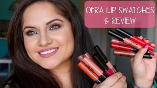 getlinkyoutube.com-OFRA Liquid Lipstick Lip Swatches & Review