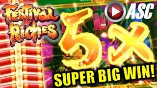 getlinkyoutube.com-★ SUPER BIG WIN! ★ FESTIVAL OF RICHES | FIRECRACKER FEATURE! Slot Machine Bonus (Konami)