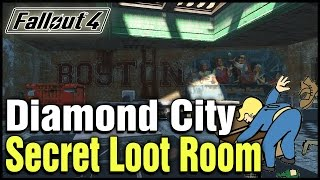 getlinkyoutube.com-Fallout 4: Diamond City Secret Loot Room Location!
