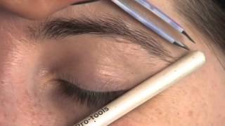 getlinkyoutube.com-How to shape your eyebrows with tweeers