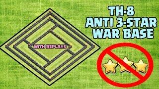 getlinkyoutube.com-Clash Of Clans! New TownHall 8 ANTI 3STAR War Base!